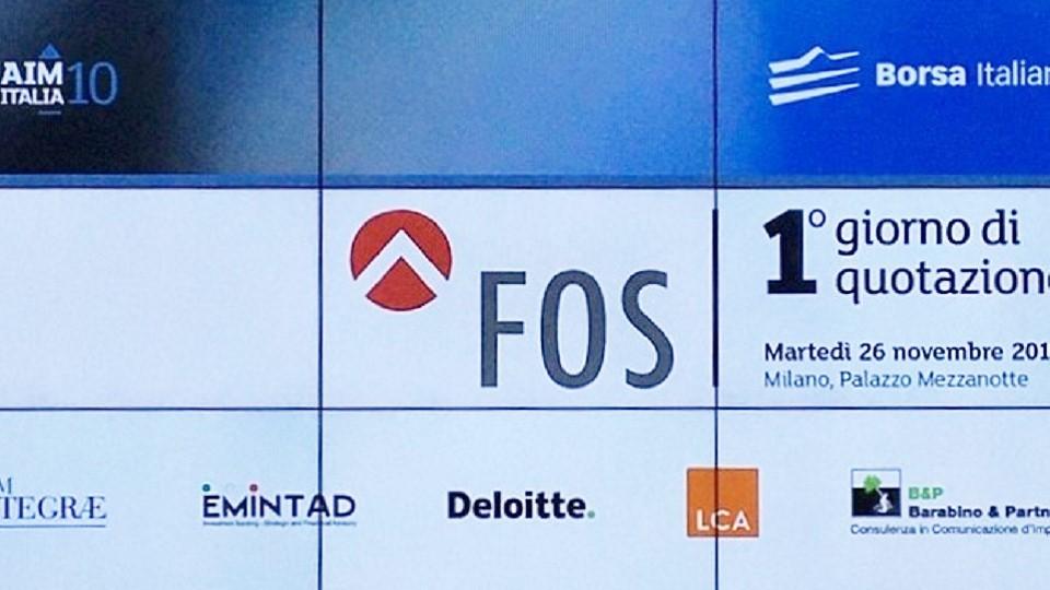 comunicazione finanziaria barabino & partners Fos Quotazione Borsa AIM MIlano