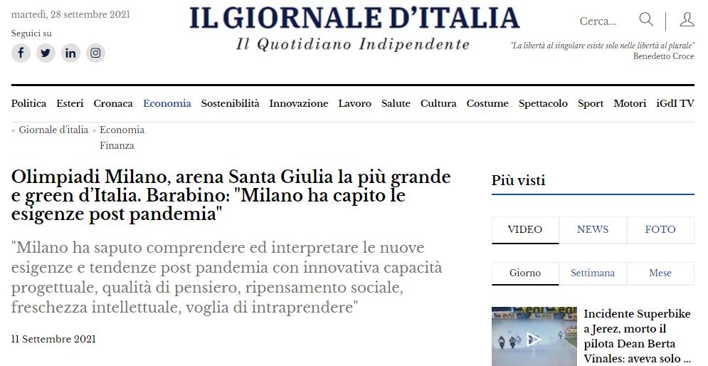 giornale d'italia commento luca barabino