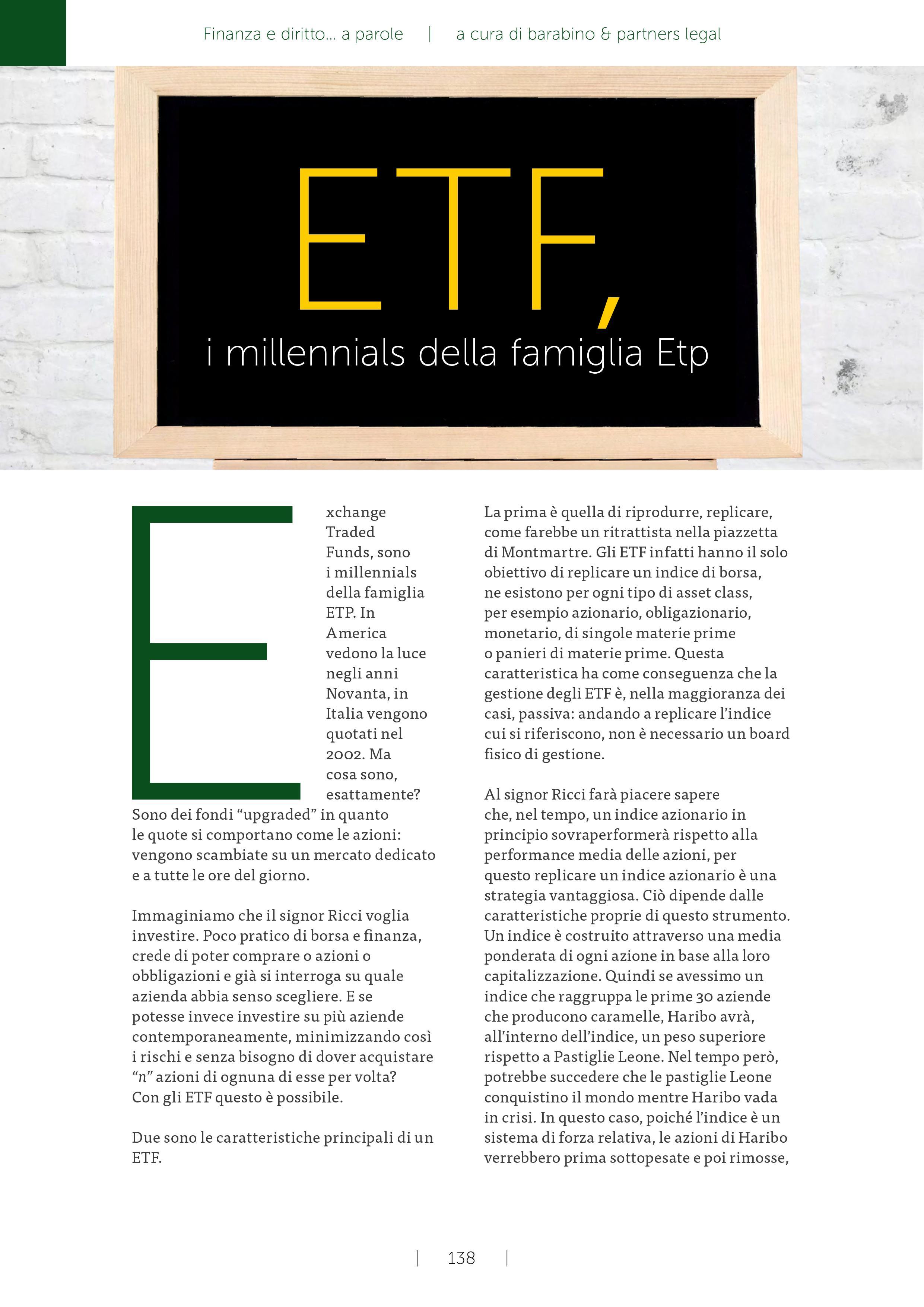 aff7751632 ETF: i millennials della famiglia ETP   Barabino & Partners